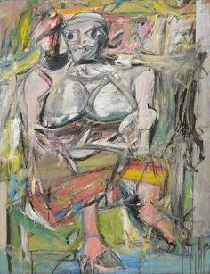 Woman, I 1952. (192.7x147.3cm)