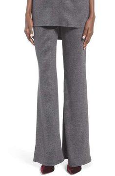 Madison & Berkeley Wide Leg Rib Knit Pants