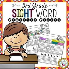 This sight word practice packet is designed to help your students practice all of the Dolch Third Grade sight words.