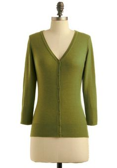 Charter School Cardigan in Sage, #ModCloth  I have this sweater & I ADORE it!!!