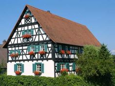 A German Fachwerkhaus (woodwork house). I love these buildings.