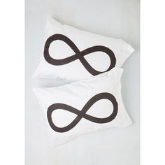 Dorm Decor Repose a Theory Pillowcase Set by ModCloth ($40) ❤ liked on Polyvore featuring home, bed & bath, bedding, bed sheets, black & white bedding, dorm decor, black and white pillow cases and black and white bedding