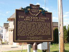 Jackson County Apple Festival historical marker, Jackson, Ohio