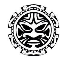 Polynesian sun design