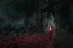 """The Lady in Red"" —  Photographer: Grégory Massat - Graigue Designer/Model: Mad'Moiselle Lelaya Makeup: Adele Masson https://www.facebook.com/darkbeautymag/photos/a.108425552545714.21069.107179966003606/766911783363751/?type=1&theater"