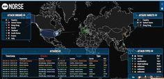 Карта кибератак в режиме реального времени