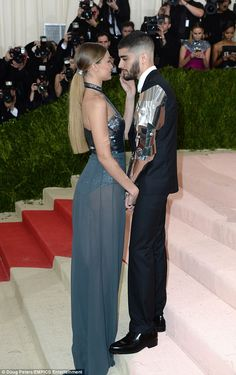 Smitten: It was plain to see the passion between the couple as they walked the red carpet side-by-side