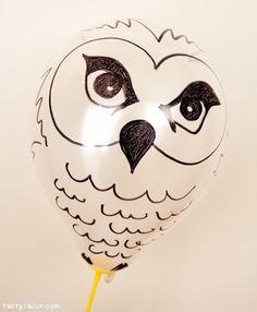 Harry Potter Halloween Owl balloons