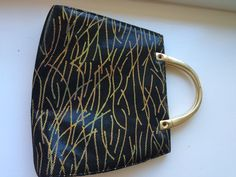 Vintage Margaret J (Jerrold) Leather and Gold  Evening Bag Handbag by ItsallforHim on Etsy