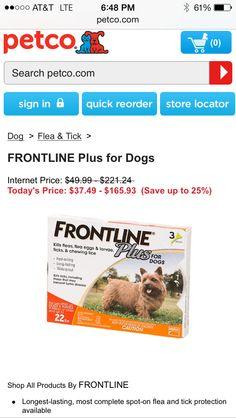 @Petco.....Frontline Plus for Dogs
