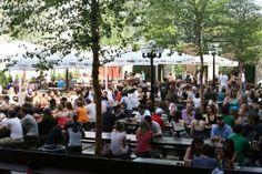 Large open air beer garden