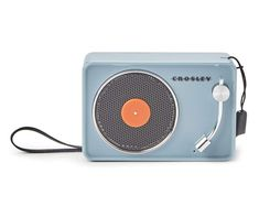 Crosley Blue Mini Turntable Bluetooth Wireless Speaker | Big Lots Wireless Speakers, Bluetooth, Built In Speakers, Boombox, Turntable, Cleaning Wipes, Usb, Digital, Mini