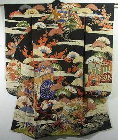 Bride´s Furisode silk, vintage Kimono Flea Market ICHIROYA