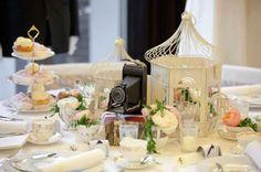 jaulas decoracion mesa vintage