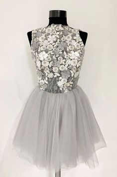 #greyhomecomingdresses #homecomingdresseswithflowers #dressesforwomen