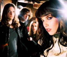 Halestorm  Lzzy Hale has a choice just as amazing as her face. I love this band.