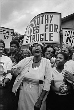 "tontonmichel: "" criticalmera: ""Omar Badsha - Dorothy Nyembe, celebrating after been released from a 15 year prison sentance, 1984 "" ""Dorothy Nomzansi Nyembe was born on the of December 1931 near Dundee in northern KwaZulu-Natal. Her mother,. End Of Apartheid, Emotional Detachment, Social Photography, Dorothy Day, Misandry, Documentary Photographers, African History, Oppression, Prison"
