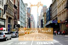 New York Shopping Guide Manhattan / Journelles