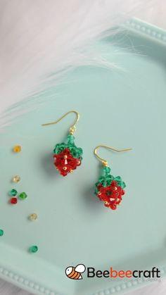 Bead Jewellery, Jewelry Making Beads, Glass Jewelry, Beaded Jewelry, Glass Beads, Diy Sewing Projects, Beading Projects, Beading Tutorials, Beading Patterns