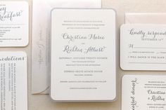 The Snowdrop Suite Modern Letterpress Wedding by DinglewoodDesign