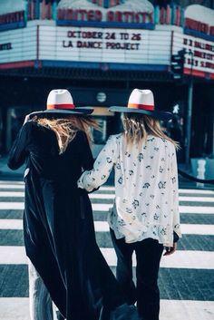 So frenchy so chic #frenchstripes fedora hats