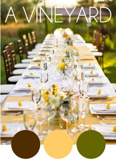 Love the idea of just one long table for every one!