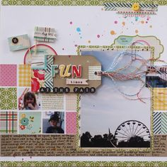 A good way to use up scraps from a line, plus I'm a sucker for a grid design | Jennifer Hufford @ shimelle.com
