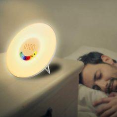 Creative Design Alarm Clock Colorful Bedroom Wake Up Digital Alarm Clock Novelty RGB LED Sunrise Simulation Light Lamp FM Radio. Yesterday's price: US $31.71 (27.72 EUR). Today's price: US $21.25 (18.58 EUR). Discount: 33%.