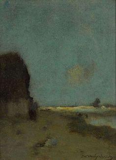 Hendrik Johannes Weissenbruch - Landschap met boerenhoeve