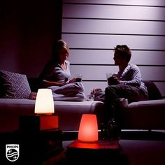 Indoor or out, set the mood with Philips #LED TableLights. Choose from seven different colors, including white, for a multi-hued glow. Why not red for #valentinesday?