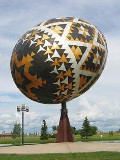 """""""World's Largest Easter Egg"""" -- Vegreville, Alberta"""