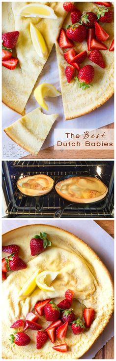 Must-Make: The BEST Dutch Babies! (Dutch Baby Recipe) on ASpicyPerspective.com  #pancakes