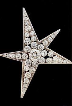 Abstract Diamond Star brooch