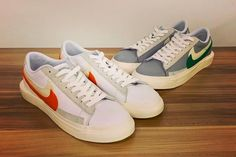 Revealed as part of sacai's upcoming Spring 2021 menswear collection, we now have a first look at the sacai x Nike Blazer Low.