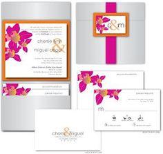 Paper Crew: Modern Tropical Wedding Invitations