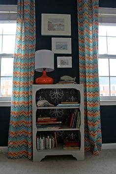 Boxy Colonial: A Blue, Orange, and Gray, Not Overwhelmingly Sea Creature-y Nursery: The Reveal