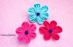 DIY: How to make a Kanzashi fabric flower