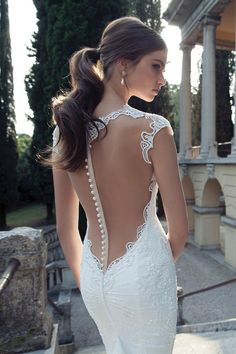 Illusion back Berta Bridal wedding dress | The Wedding Scoop Spotlight: Sexy Wedding Dresses