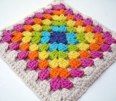 lovely colored granny square!