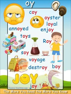 oy Words Phonics Poster - oy word list - DOWNLOAD - Free & Printable