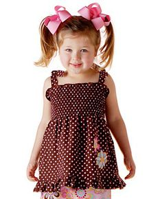 Polka Dot Bloom Handmade Shirred Top 4T/5T New by uniquefavors, $34.00