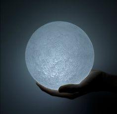 Moon lamp by Japanese designer Nosigner (LED) - fabulous! http://www.nosigner.com/