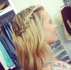 Love a soft cascading waterfall braid!   -do you guys like this sort of braid and just soft waves?