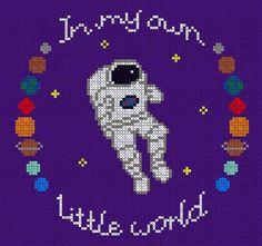 Own Little World Astronaut Cross Stitch Pattern by JosieMakes