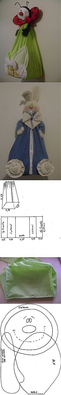 pozitivchik to store any nonsense. Sewing Toys, Baby Sewing, Free Sewing, Sewing Crafts, Sewing Projects, Fabric Toys, Felt Fabric, Fabric Crafts, Diy Plastic Bag Holder