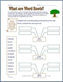 Classroom Freebies: Prefixes, Suffixes and Word Roots