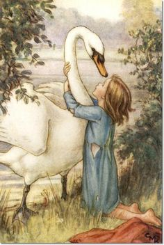 Cicely Mary Barker, The Lord of the Rushie River, She Threw Her Arms Round His Neck