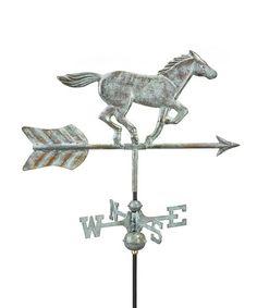 Another great find on #zulily! Blue Verde Copper Horse Garden Weather Vane #zulilyfinds