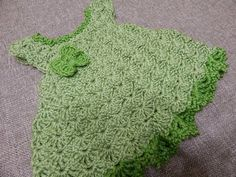 Vestido Pistache para Bebe Crochet - YouTube