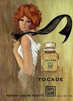 Tocade, Coryse Salomé perfume, 1960s  (by Addie ♥, via Flickr).  One of my most favorite colognes!